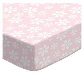 100% Cotton Woven - Pastel Florals Pack N Play Sheets