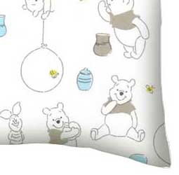 Flannel Pillow Case - Pooh & Friends White