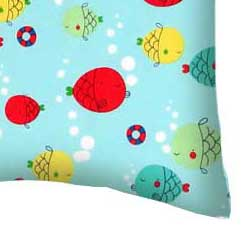 Percale Pillow Case - Ocean Fish