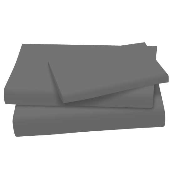 Dark Grey Cotton Jersey Knit Twin