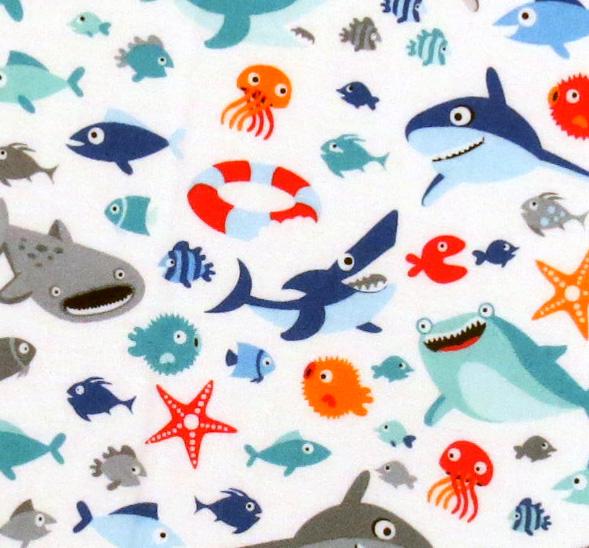Sharks Portable Mini Crib Sheets Sheetworld