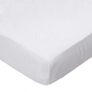 Oval (Stokke Mini) - Flannel - White - Fitted Oval - 100% Cotton Flannel - Solid Color Flannels Oval Sheets