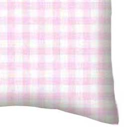 Baby Pillow Case - Pink Gingham Jersey Knit