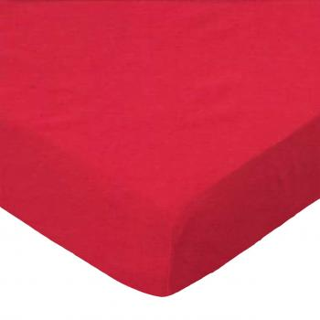 Youth Bed - Solid Red Woven - Sheet Set (flat, fitted, twin pillow case) - 100% Cotton Percale - Solids Youth Bed Sheets