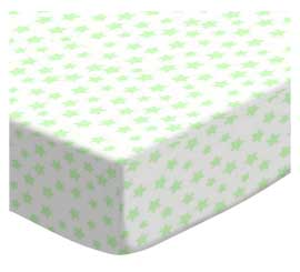 100% Cotton Woven - Pastel Hearts and Stars Pack N Play Sheets