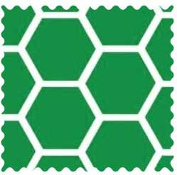 Green Honeycomb Fabric