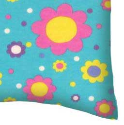 Twin Pillow Case - Floral Aqua Jersey Knit