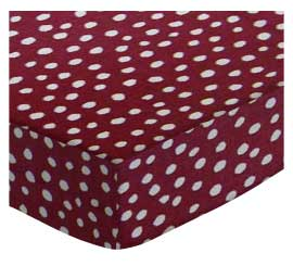 Cradle - Burgundy Fun Dots - Fitted - 100% Cotton Woven - Fun Dots Cradle Sheets