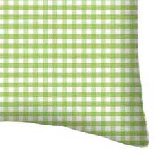 Twin Pillow Case - Sage Gingham Jersey Knit
