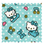 Fabric Shop - Hello Kitty Blue Fabric - Yard - 100% Cotton Flannel - Character Prints Fabric Shop