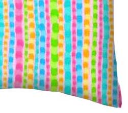 Flannel Pillow Case - Colorful Pearl Stripes