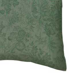Percale Pillow Case - Floral Forest Green