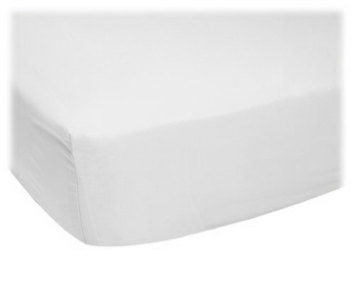 ORGANIC white jersey knit CRIB Sheet