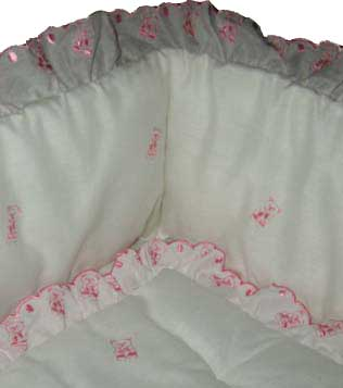 Pink Teddy Cradle Set