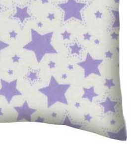 Flannel Pillow Case - Lavender Stars