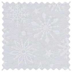 White Snowflakes Fabric