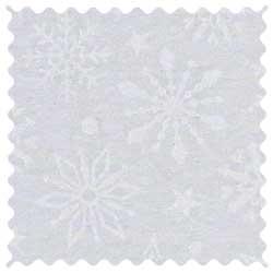 White Snowflakes Fabric