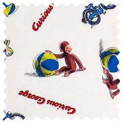 Curious George Beach Balls Fabric