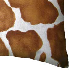 Percale Pillow Case - Brown Cow