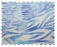 Fabric Shop - Blue Zebra Fabric - Yard - 100% Cotton Flannel - Baby Animal Prints Fabric Shop
