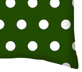 Percale Pillow Case - Polka Dots Hunter Green