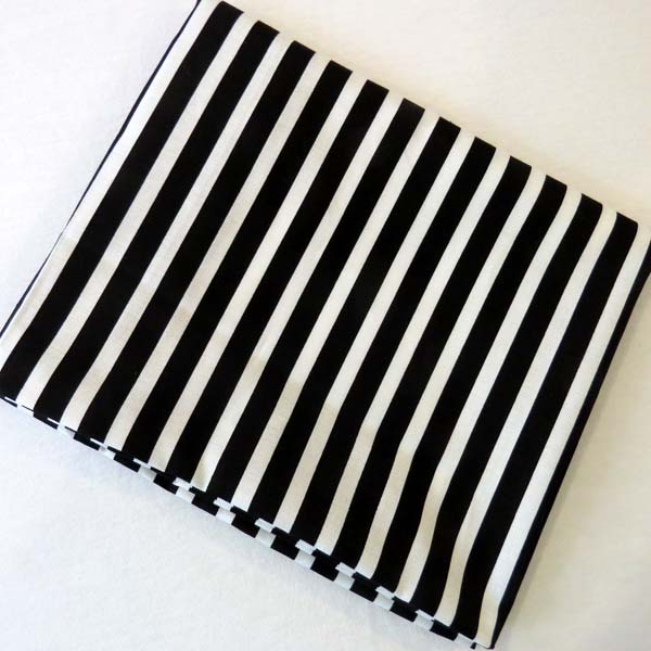 Black Stripe Cotton Baby Pillow Case