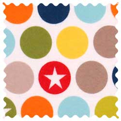 Colored Dots & Stars Fabric