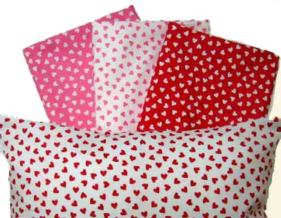Percale Pillow Cases - Primary Hearts Collection