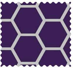 Purple Honeycomb Fabric