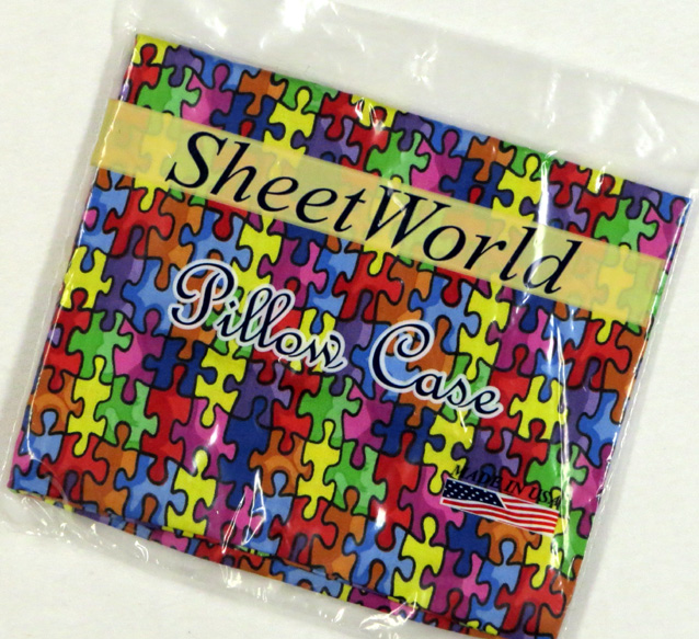 Primary Puzzle Cotton Baby Pillow Case