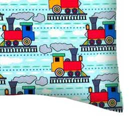 Percale Pillow Case - Kiddie Trains