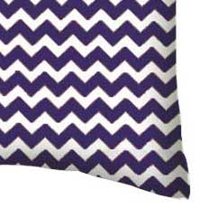 Percale Pillow Case - Purple Chevron Zigzag