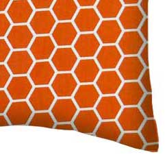 Percale Pillow Case - Burnt Orange Honeycomb
