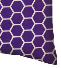 Percale Pillow Case - Purple Honeycomb