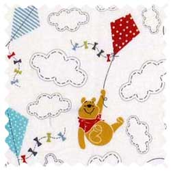 Pooh & Friends Clouds Fabric