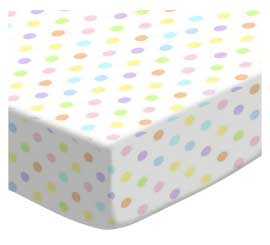 Pastel Colorful Polka Dots Woven