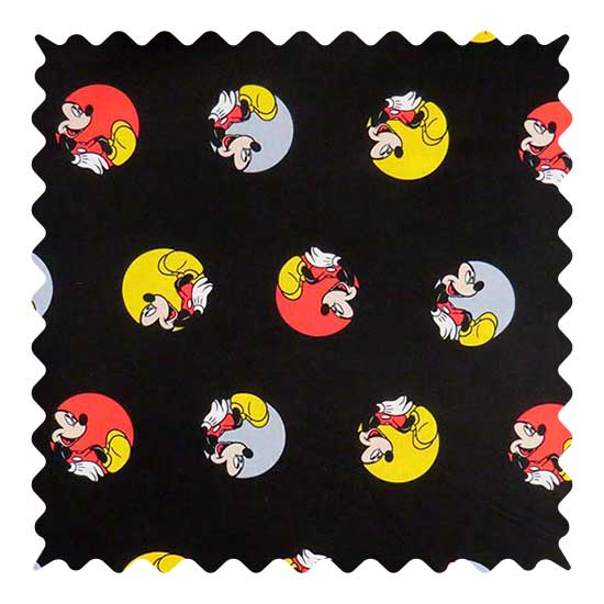 Mickey Circles Fabric - 100% Cotton - 39 x 42 inches