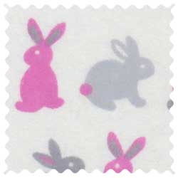 Girls Bunny Rabbits Fabric
