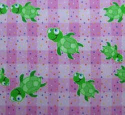 100% Cotton Flannel - Baby Animal Prints Square Sheets