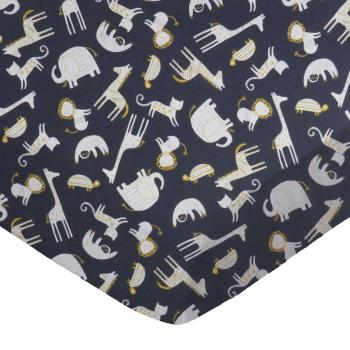 Modern Safari Animals Dark Gray