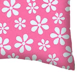 Percale Pillow Case - Primary Pink Floral Woven