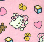 Bassinet - Hello Kitty Pink - Fitted - 100% Cotton Flannel - Character Prints Bassinet Sheets