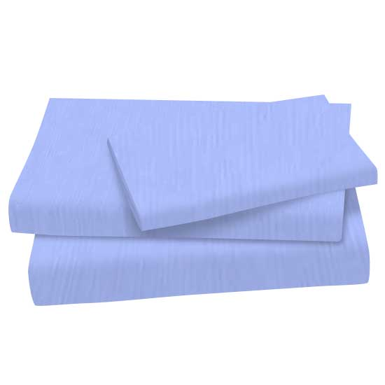 Solid Blue Cotton Woven