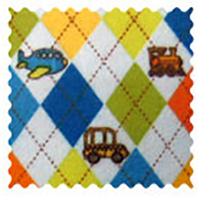 Argyle Transport Blue Fabric
