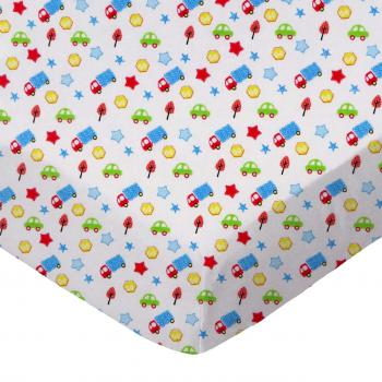 Made in USA SheetWorld Fitted 100/% Cotton Percale Cradle Sheet 18 x 36 Baby Airplanes