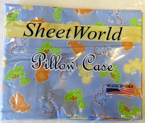 Baby Dino Blue Cotton Baby Pillow Case