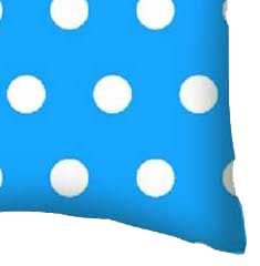Percale Pillow Case - Polka Dots Turquoise