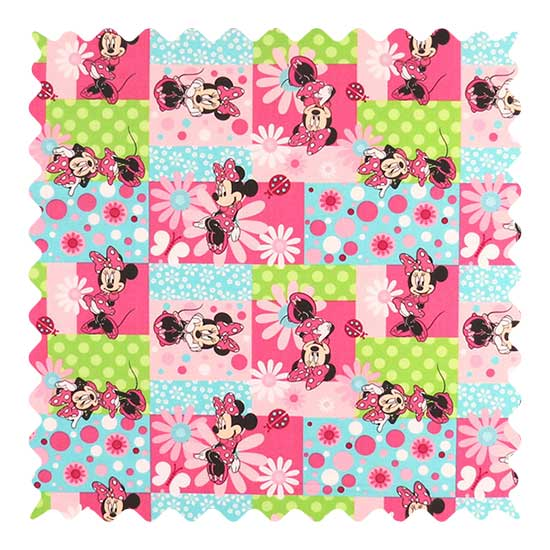 Minnie Mouse Patch Fabric - 100% Cotton - 21 x 41 inches