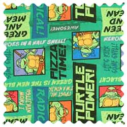 Ninja Turtles Pizza Time Fabric