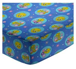100% Cotton Percale - Character Prints - Kid Characters Round Crib Sheets